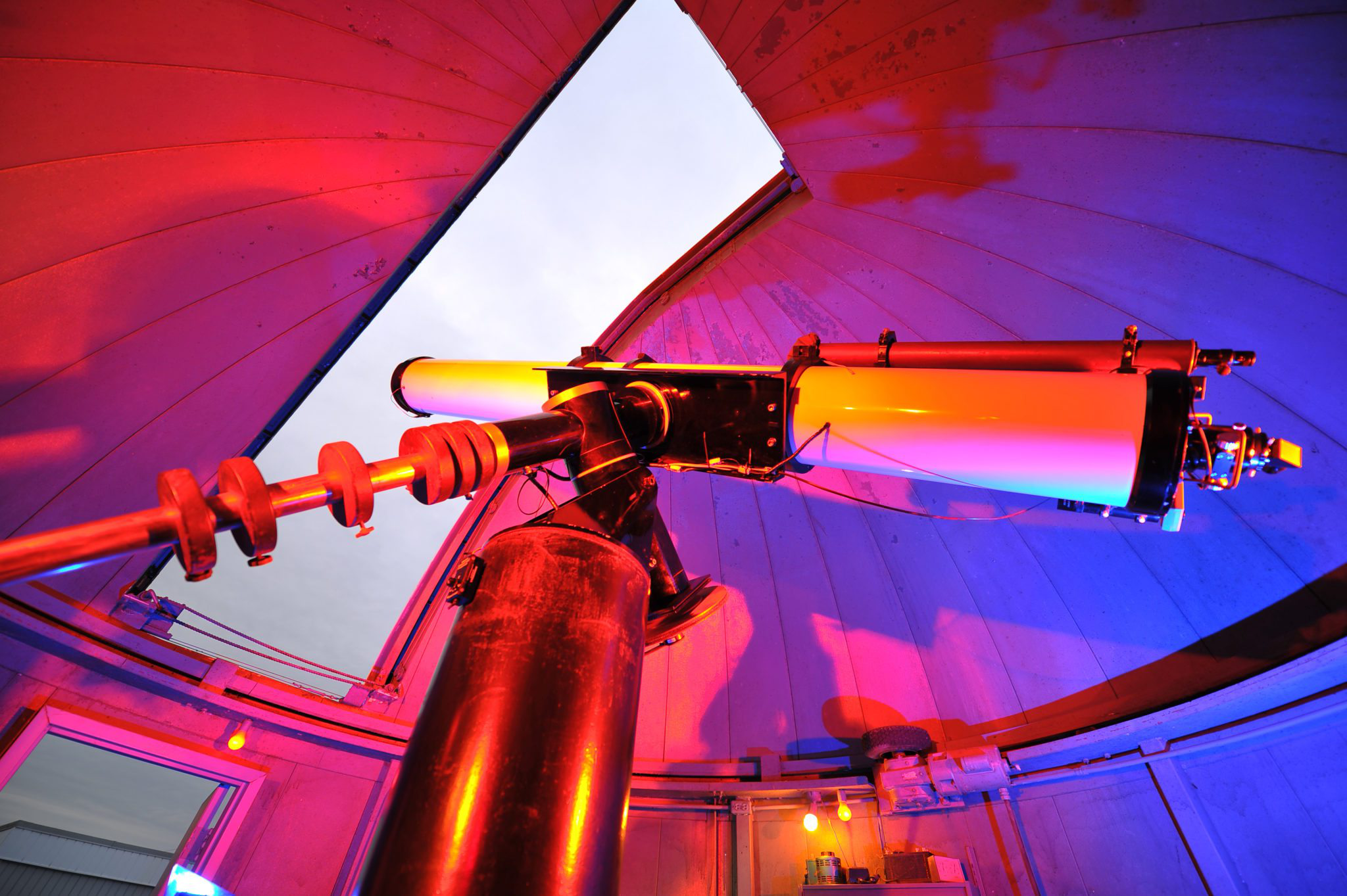 Telescope at the observatory at keystone college